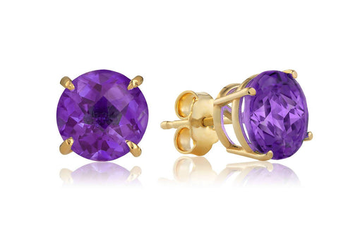 AMETHYST STUD EARRINGS Traveling Blonde Jewellery