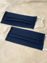 Load image into Gallery viewer, Amrit's Handmade Masksfromthe6ix Amrit's Handmade Items Navy Blue Pleated