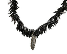 Load image into Gallery viewer, Black Feather Earrings Pret-A-Porter Jewels