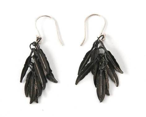 Black Feather Earrings Pret-A-Porter Jewels