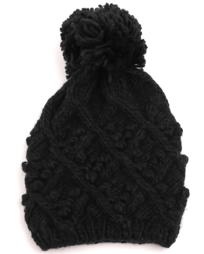 Black Knit Hat CRUNCH+TOOT