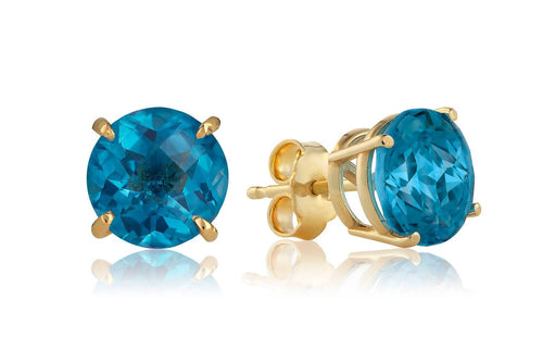 BLUE TOPAZ STUD EARRINGS Traveling Blonde Jewellery
