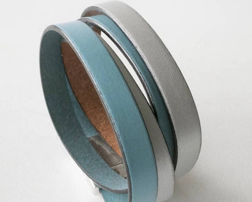 Double Wrap Leather Cuff Pret-A-Porter Jewels