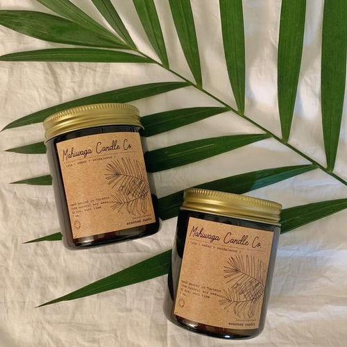 Hand-Poured Original Soy Candles Mahiwaga Candle Co. ISLA { cedar + sandalwood }