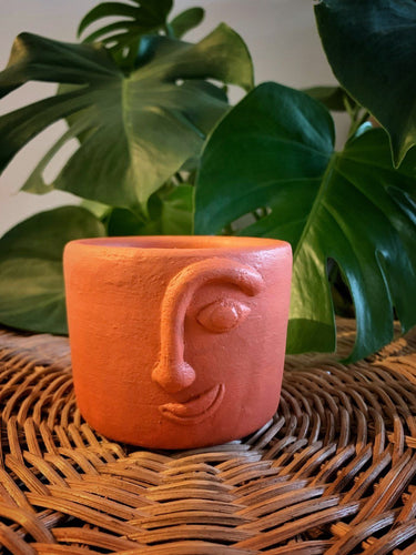 Handcrafted Hiwaga Face Pot Mahiwaga Candle Co. Terracotta