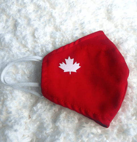 Handmade Reusable Cotton Face Masks Hero Masks Red with Maple Leaf