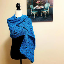 Load image into Gallery viewer, Crochet Shawl Women | Hand Knit Shawl | Elegant Shawl
