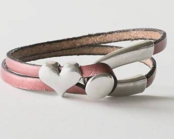 Leather Bracelet with Heart Pret-A-Porter Jewels