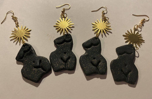 The Divine Goddess Bust Figure Earrings