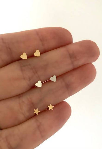 Mini Heart or Star Studs StellaLuna Creations