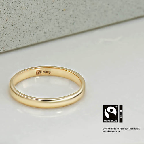 Minimalistic Ring with Fairtrade Certified Gold Malleable Jewellers