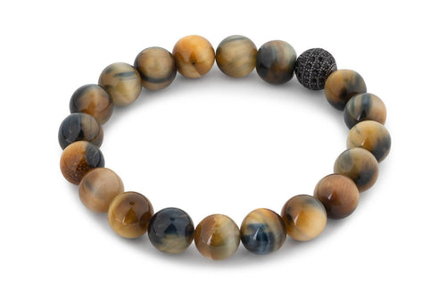 Mixed Tiger Eye Beaded Bracelet Traveling Blonde Jewellery 7