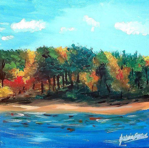 Original Acrylic Paintings on Canvas Jessica Brown Art and Fashions An Autumn Day