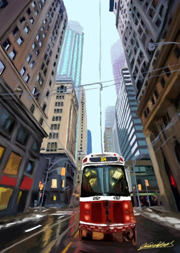 Original Prints Jessica Brown Art and Fashions Toronto Streetcar