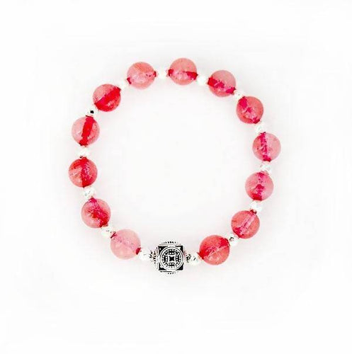 The Fire Element Cherry Quartz Stretch Bracelet