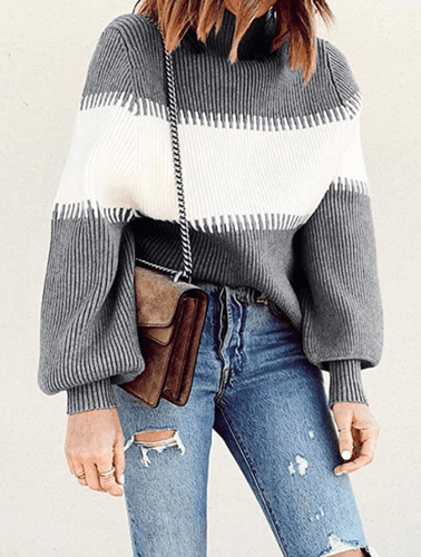 Ribbed Turtleneck Sweater CRUNCH+TOOT