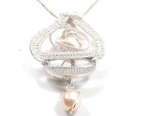 Pearl and Pave Pendant