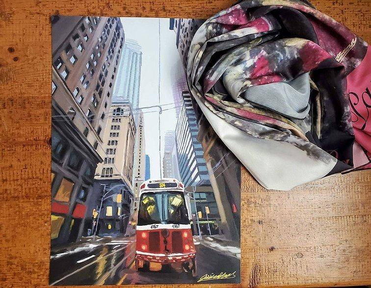 Scarf & Art Print Bundles Jessica Brown Art and Fashions