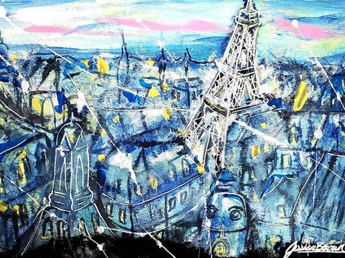 Starry Night in Paris Jessica Brown Art and Fashions