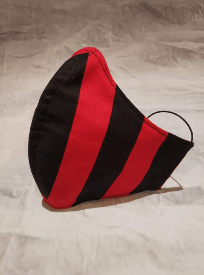 Stay safe in style with Cotton Masks JonnyMask Red Stripe