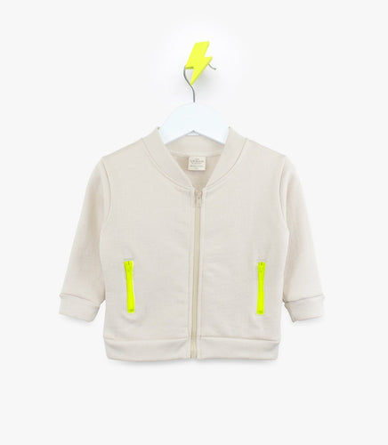 Stylish and Comfortable Organic Playwear The Urban Nursery Electric Zip Bomber