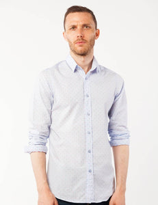 Blue Striped Dress Shirt