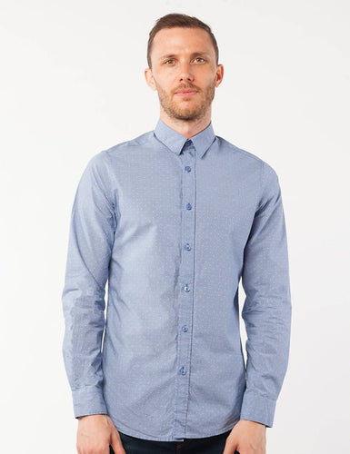 Blue Dotted Dress Shirt