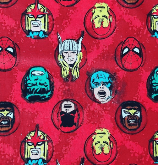 Unique Handmade Cloth Masks Liberty Boutique Toronto Red Avengers