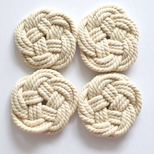 4 Piece Coaster Set in Natural