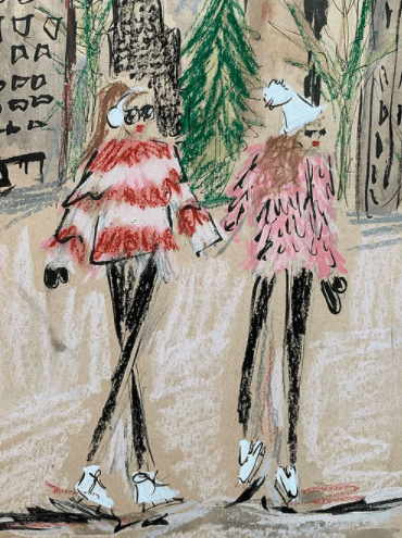 Winter Skate Siobhan Olivia Art