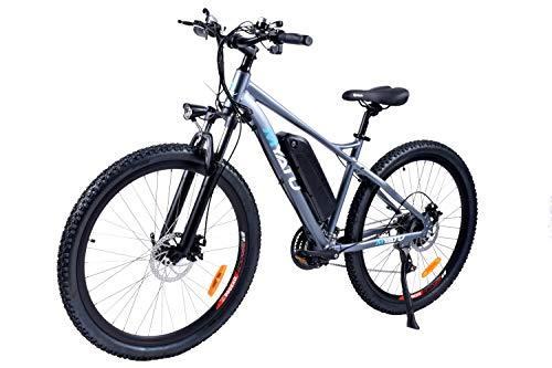 "ANCHEER 27.5"" Electric Bike for Adults, Electric Bicycle with 250W Motor, 36V 8Ah Battery, Professional 21 Speed Transmission Gears(Grey)"