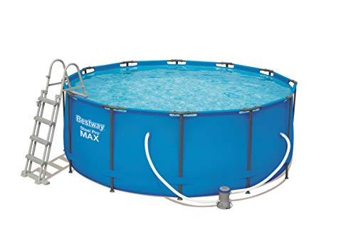 Bestway Round Frame Swimming Pool with Filter Pump, Steel Pro Max, 48 Inch Deep, 12 ft