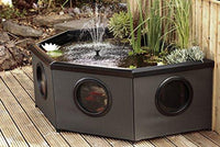 Blagdon Affinity Grand Half-Moon Living Water Feature Pool, Mocha Weave/Black Aluminium