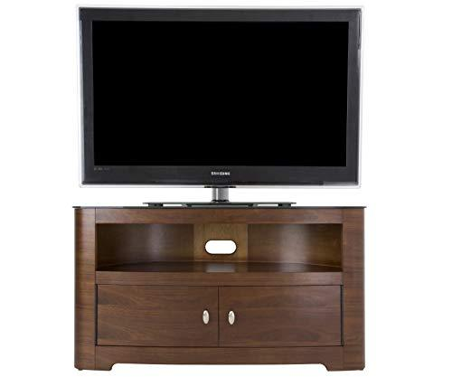 Blenheim Affinity Curved TV Stand 1100 Walnut/Black Glass
