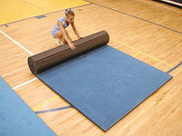 Cannons UK Rollaway Mat. Different sizes and Colours available Vinyl Top (Blue, 12m x 1.5m x 40mm)
