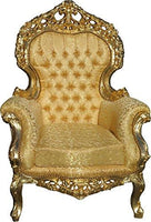 Casa Padrino Baroque Living Room Set Versailles Gold Pattern/antique gold - 3er sofa + 2 armchairs - lounge set