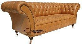 Chesterfield Balmoral 3 Seater Sofa Settee Old English Buckskin Leather
