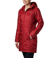 Columbia Women's Mighty Lite Hooded Jacket, Beet, 1X