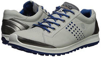 ECCO Men's Biom Hybrid 2 Hydromax Golf Shoe, Concrete/Royal, 6-6.5