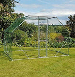'Feel Good UK Walk in Pet Cage 2 x 3 x 2 Galvanised Pet Run Chicken Coop Rabbit Run Dog Pen'
