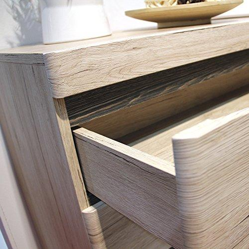 Oak 4 Wide Chest of Drawers Furniture To Go 4 125.7x39.9x83.8 cm