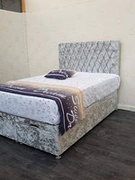 Future Living Furniture Ltd TAPICED END LIFT DIVAN OTOMANO STORAGE BED AND HEADBOARD (Super King Size)