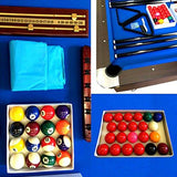 GRAFICA MA.RO SRL 8 Ft Pool Table Model Vintage Blue Billiard Playing Cloth Indoor Sports Game billiards table NEW
