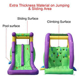 Happy Hop Inflatable Bouncer, 600x255x215CM, Double Water Slide with Water Spray, Family Backyard Bouncer for Kids, Durable Sewn with Extra Thick Material, Idea for Kids (9029)