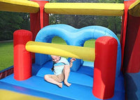 Happy Hop Obstacle Course Bouncy Castle With Double Slide