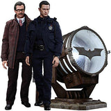 Hot Toys 1:6 Scale John Blake and Jim Gordon with Bat Signal Figure Set