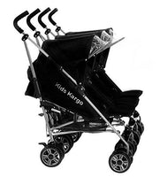 Kids Kargo Triple stroller Baby (Midnight black) 15Kg