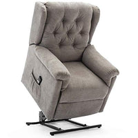 More4Homes BARNSLEY FABRIC RISE RECLINER ARMCHAIR ELECTRIC LIFT RISER CHAIR (Beige Oscuro)