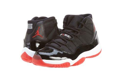 Nike - Air Jordan XI - Coleur: Black-Red-White - Taille: 45.0