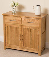 Roble Muebles de roble Oslo Solid Oak Small Sideboard Cabinet, (91 x 43 x 82 cm)